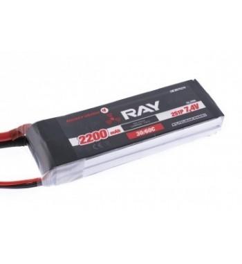 Bateria LiPo RAY 2200 mAh 7.4v 30/60C 11.1Wh