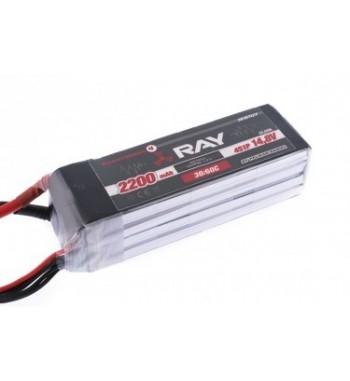Bateria LiPo RAY 2200 mAh 14.8v 30/60C RX