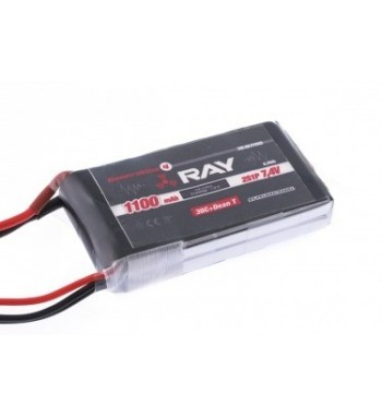 Bateria LiPo Ray 1100 mAh 7.4v 40/80C 6.3Wh