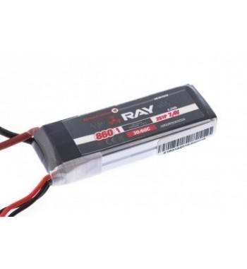 Bateria LiPo Ray 860 mAh 7.4v 30/60C Air Pack