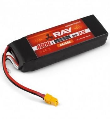 G3 RAY LI-POL 4900 mAh/11.1 26/50C Air Pack+XT60 PLUG