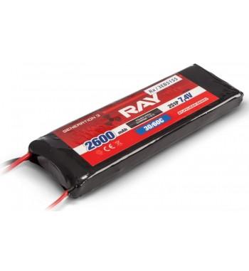 G3 RAY LI-POL RX 2600 mAh/7.4 26/50C RECEIvER BATTERY