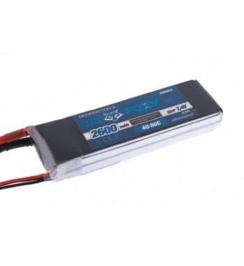 Bateria LiPo FOXY 2600 mAh 7.4v 40/80C 19.2Wh Air Pack