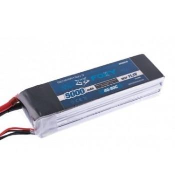 Bateria LiPo FOXY 5000 mAh 11.1v 40/80C 55.5Wh Air Pack