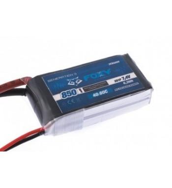 Bateria LiPo FOXY 850 mAh 7.4v 40/80C 6.3Wh Air Pack