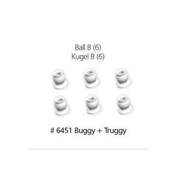 6451 Rotulas tipo B para Buggy y Truggy x6 uds.