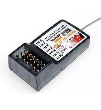 Emisora FlySky FS T4B y Receptor FS-R6B