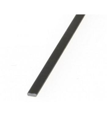 Lamina de fibra de carbono 1x3x1000mm