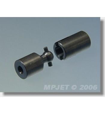 Acoplamiento cardan de acero U 8mm 2x3 mm