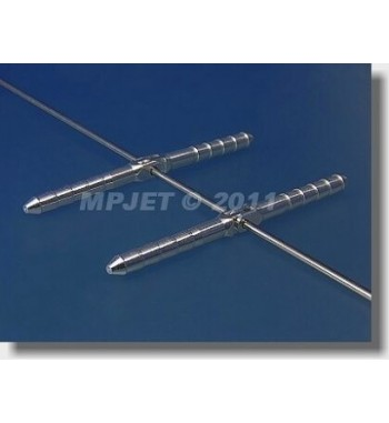 Bisagra 4.5 x 70 mm de aluminio para cable - desmontable