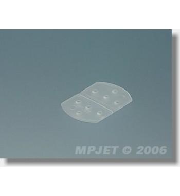Bisagra flexible de plastico 15x22 mm - 6 uds.