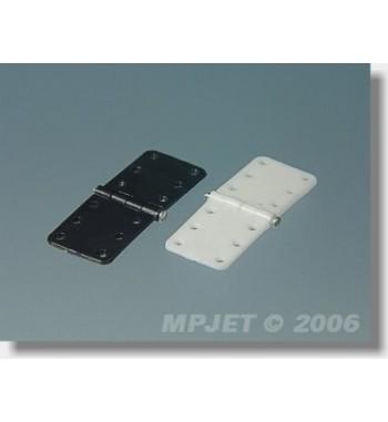Bisagra de plastico plana 11 x 28 mm - 6 unidades