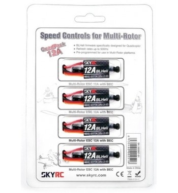Combo variadores SkyRC 12A ESC x4 unidades