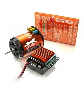 Combo brushless SkyRC 1/10 ESC 60A + motor 10.5T + tarjeta