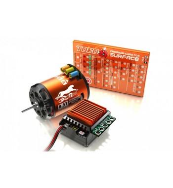 Combo brushless SkyRC 1/10 ESC 60A + motor 8.5T + tarjeta