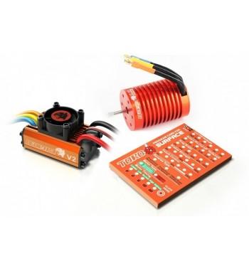Combo brushless SkyRC 1/10 ESC 60A + motor 9.0T + tarjeta