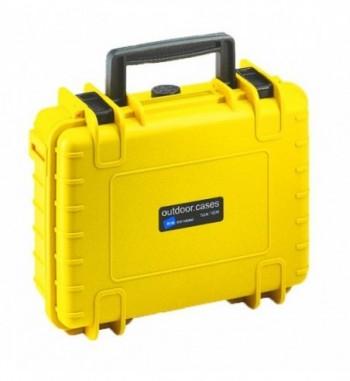 Maleta para GoPro 3 - 4 - 5 tipo 1000 (amarillo) - B & W