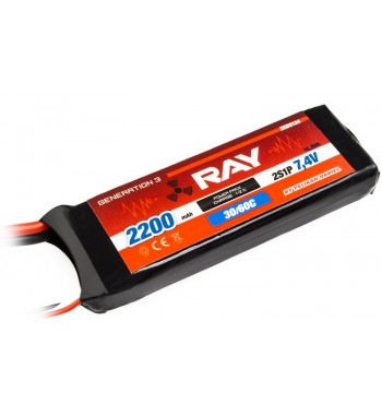G3 - LC RAY LI-POL 2200 mAh/7.4 30/60C Air Pack